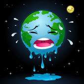 Crying Earth — Stock Vector