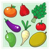Fruits & Vegetables 02 — Stock Vector