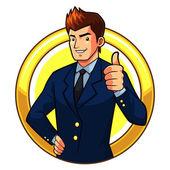 Great Businessman — Stock Vector