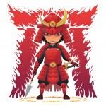 Постер, плакат: Red Armor Samurai
