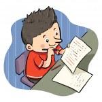 выполнение домашней работы — Cтоковый вектор #26748553