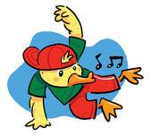Taniec kaczka — Wektor stockowy