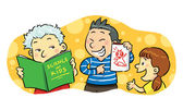 Children Study Group — 图库矢量图片