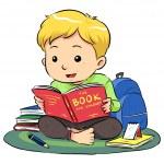 lettura di un libro — Vettoriale Stock