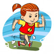 Vettoriale Stock : Running Girl