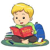 Reading A Book — Stock Vector