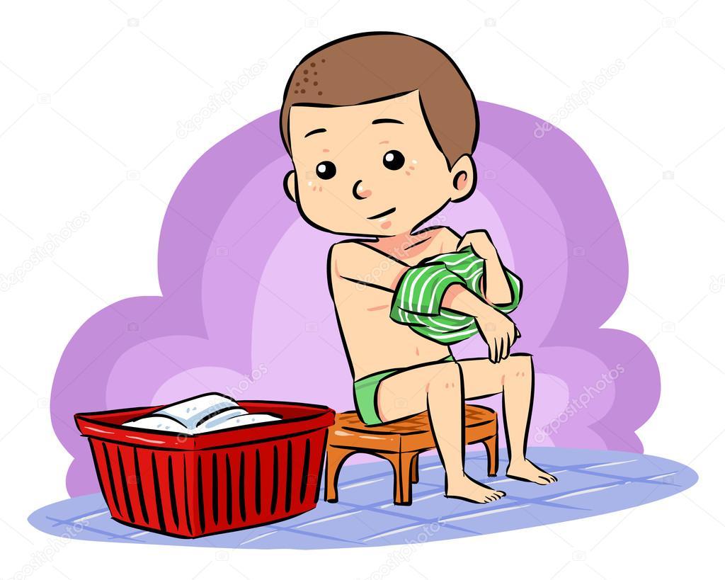 Imagenes De Tomar Un Baño:Prepárese para tomar baño — Vector de stock © mikailain #26769323
