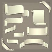 Paper Design Elements — Stock Vector