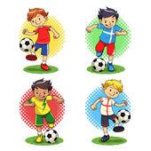 Soccer Boys — Stock Vector