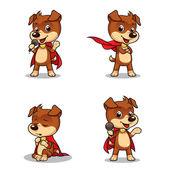 Superhero Puppy Dog 01 — Stock Vector