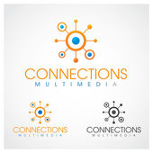 Connections Multimedia — Stock Vector