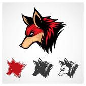 Vector Red Fox Symbol — Stock Vector