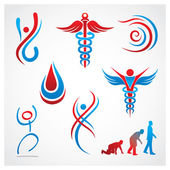 Health Medical Symbols — Stock Vector