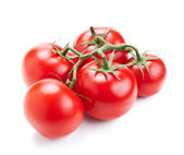 Red tomato vegetable isolated on white — Stock Photo