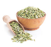 Fennel seeds isolated on white — Stock Photo