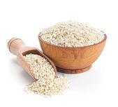 Sesame seeds isolated on white — Stock Photo