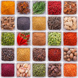 Collection of spices and herbs in ceramic bowls — Stock Photo #41553563