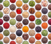 Seamless texture with spices and herbs — Stock Photo