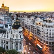 Panoramic view of Gran Via, Madrid, Spain. — Stock Photo #12459708