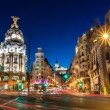Gran Via in Madrid, Spain, Europe. — Stock Photo