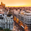 Panoramic view of Gran Via, Madrid, Spain. — Stock Photo #13896741