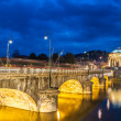 Panorama of Turin, Italy. - Stock Photo