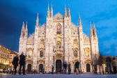 Milano katedrali'ne meydanı — Stok fotoğraf
