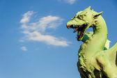 Famous Dragon bridge in Ljubljana — ストック写真