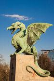 Famous Dragon bridge in Ljubljana — Stock Photo