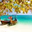 ������, ������: Wooden boats on a tropical beach