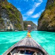 Wooden boat on Phi Phi island, Thailand. — Stock Photo #21607023