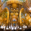 Stock Photo: Golden mosaic in LMartoranchurch, Palermo, Italy