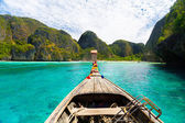 Wooden boat on Phi Phi island. — Stock Photo