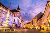 Ljubljana's city center, Slovenia, Europe. — Stock Photo