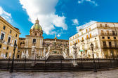 Fontana Pretoria in Palermo, Sicily, Italy — Stock Photo
