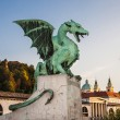 Zmajski most (Dragon bridge), Ljubljana, Slovenia, Europe  — Stock Photo