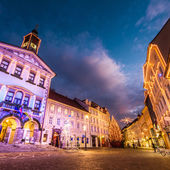 Ljubljana's city center, Slovenia, Europe. — ストック写真