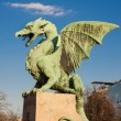 Famous Dragon bridge in Ljubljana — Stock Photo