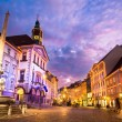 Stock Photo: Ljubljana's city center, Slovenia, Europe.