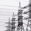 High-voltage power transmission towers. — Stock Photo