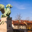 Stock Photo: Famous Dragon bridge in Ljubljana