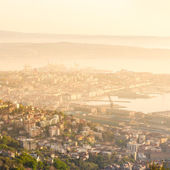 Aerial view of Trieste, Italy. — Stock Photo