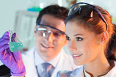 Health care professionals working in laboratory. — Stock Photo