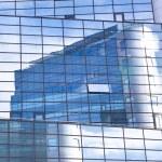 Постер, плакат: Modern facade of glass and steel
