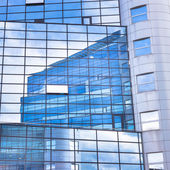 Modern facade of glass and steel. — Stock Photo