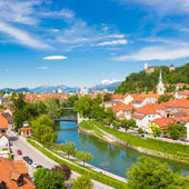 Panorama of Ljubljana, Slovenia, Europe. — Stock fotografie