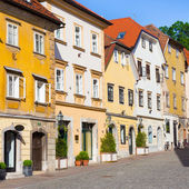 Old houses in Ljubljana, Slovenia, Europe. — Stock Photo