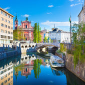 Panorama of Ljubljana, Slovenia, Europe. — 图库照片