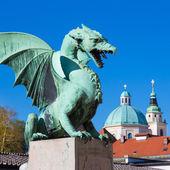 Dragon bridge, Ljubljana, Slovenia, Europe. — Stock Photo