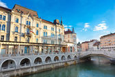 Triple bridge, Ljubljana, Slovenia, Europe. — Stock Photo